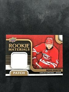 2015-16-Upper-Deck-Rookie-Materials-Patches-Noah-Hanifin-Flames-Hurricanes-25
