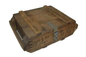 ORIGINAL-POLACA-Ejercito-Vintage-madera-Municion-Transporte-Caja-USADO-MILITAR