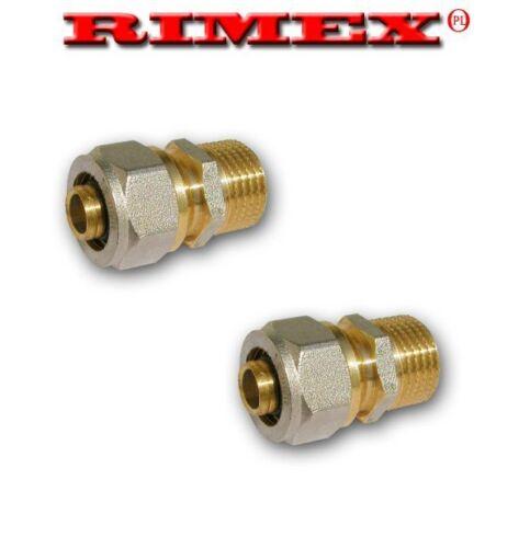 """20 mm x 3//4/"""" M Dritto Connettore PERT-AL-PERT o Pex-Al-Pex"""