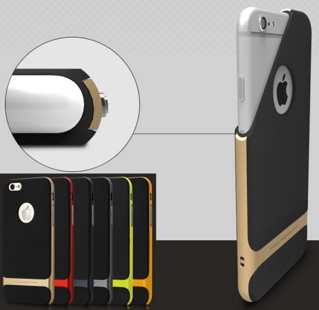 Shockproof Hard Bumper Soft Rubber Case Cover Protector for New iPhone 6 6S Plus