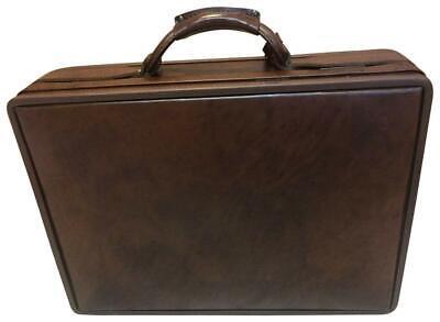 Brown Tan English Vintage Executives Brief Case