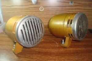 2-Two-1970-039-s-Electric-115V-Siren-Horn-Air-Raid-Siren-Police-Alarm-Fire-Loud