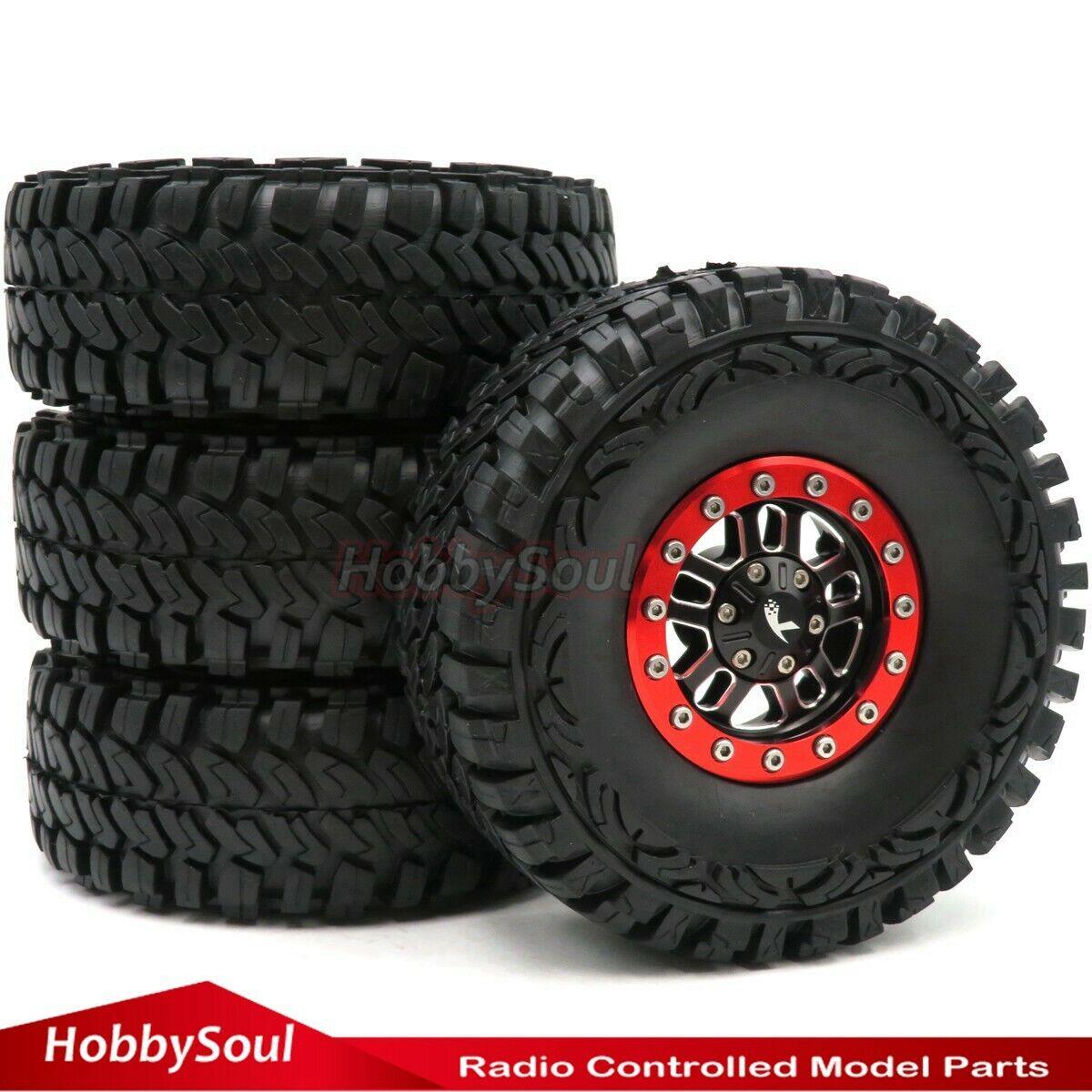 4 un. RC 1 10 Crawler barro Neumático Neumático Od 115mm y 1.9  Ruedas de Aleación beadlock Llantas