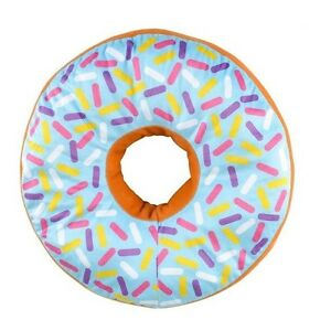 BLUE-icing-glazed-Donut-16-inch-throw-pillow-doughnut-sprinkles-Purple-pink-red