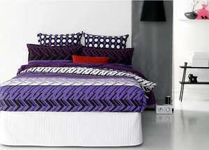 Retro-Home-SOHO-Purple-Queen-Size-Quilt-Doona-Cover-Set