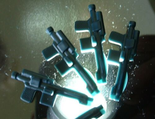 5 CUSTOM BLACK Stormtrooper Weapon LOT 1977 Style LIGHT//FLOAT Vintage Star Wars