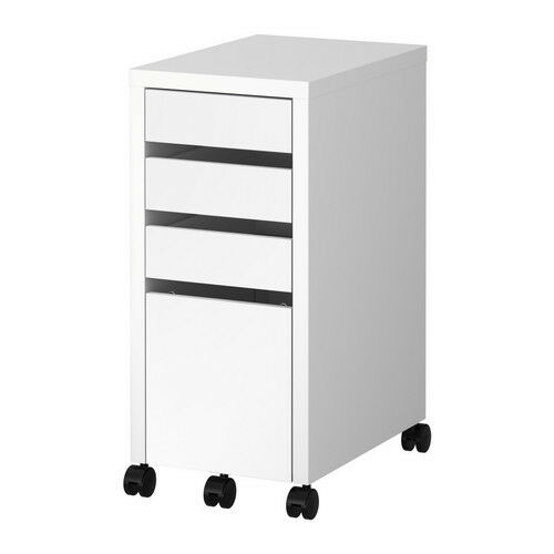 Ikea Micke Drawer Unit/Drop File Storage Computer Workstation White Modern