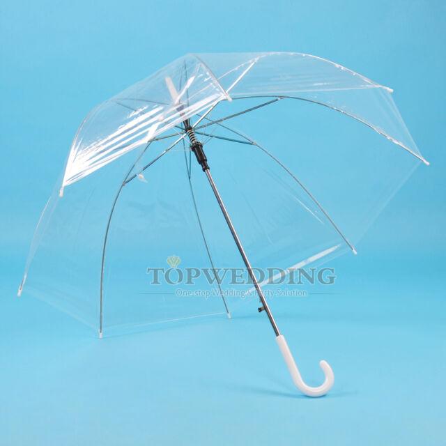New Transparent Clear Rain Umbrella Parasol PVC Dome for Wedding Party Favor
