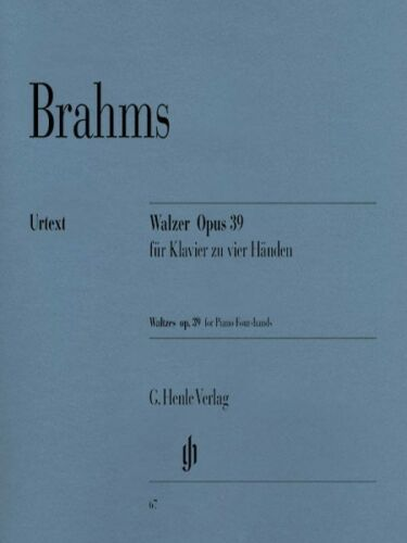 Brahms Waltzes Op 39 Sheet Music 1 Piano 4 Hands NEW 051480067