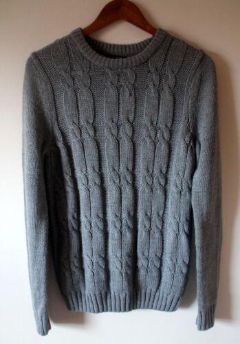 S Knit Mens taglia New Bnwot maglia Look Grigio ponticello wx6UFq