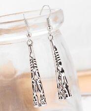 Long Tribal 925 Sterling Silver Plated Drop Dangle Earrings Fashion Jewelry
