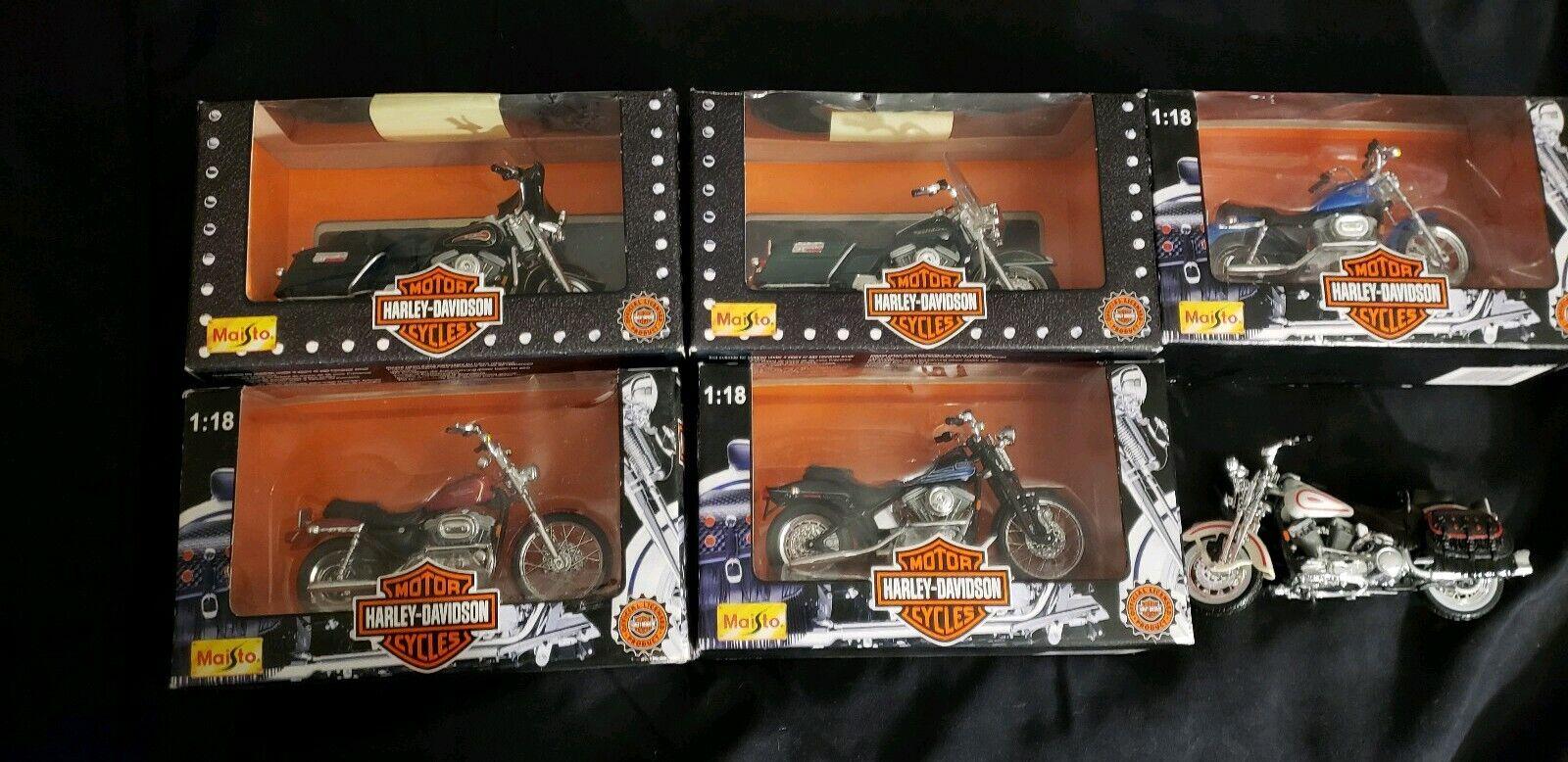 Harley Davidson Motorcycles Diecast Metal Replicas 1 18 Complete Series 1