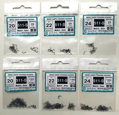 FEEDER MATCH 50 small FISHING HOOKS Size #20 18 № 980-S Black Nickel for corn