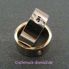 - NEU - MelanO Twisted - Edelstahl Ring Tatum 8 mm Breite - Gr. 62 - ROTGOLD