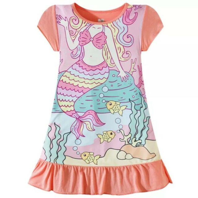 Disney Girls Ariel Nightshirt Purple
