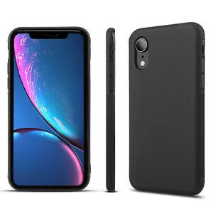 For-iPhone-XS-Max-XR-X-8-7-6s-Luxury-Ultra-Slim-Soft-TPU-Bumper-Case-Cover-Black