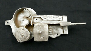 Original-Antique-Cabinet-Lock-Furniture-Lock-Baroque-Without-Key-out-of-Iron