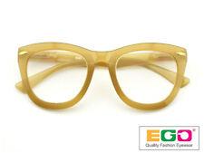 EGO Tom Retro Geek Eyeglasses Ford Style Horn Rim Yellow Reading glasses +2.50
