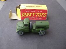 VINTAGE DINKY TOY # 643 ARMY WATER TANKER MINT CONDITION ORIGINAL BOX