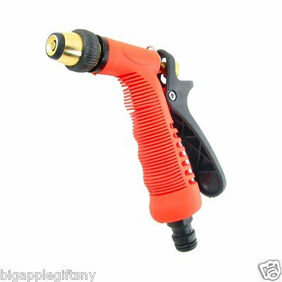 Water Spray Nozzle Deluxe Garden Hose Pressure Watering Clean Deck Car Wash Yard