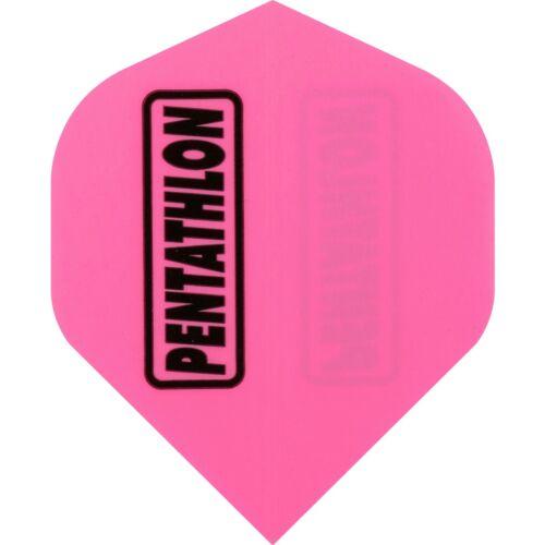 Pentathlon Plain Dart Flights 1-10 Sets Tough Neon Solid Colours