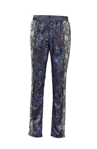 Damen Druck-Leggings Druckhose Hose Gummibund Polyester blau grau 026120 B.C