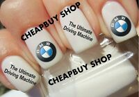 Top Quality》bmw Ultimate Driving Machine Luxury Logos》tattoo Nail Art Decals