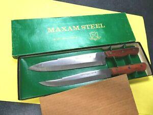 Vintage Maxam carving set with original box