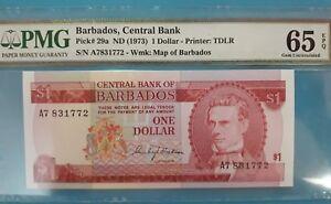1973-BARBADOS-CENTRAL-BANK-1-DOLLAR-034-S-PRESCOD-034-PMG65-EPQ-lt-P-29a-gt