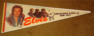 ELVIS-PRESLEY-PENNANT-KING-OF-ROCK-039-N-ROLL-1935-1977-FREE-USA-SHIPPING