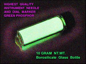 ULTRA-GREEN Phosphor/Instrument Needles&Dials 4x5g/Phosphorescent & Fluorescent