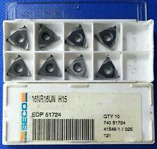 8 Pieces Seco 16nr 16un Carbide Threading Inserts Grade H15 Machinist