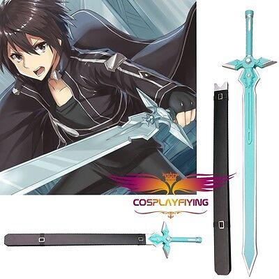 Sword art online kirito kazuto kirigaya white sword cosplay prop WOODEN version