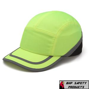 74e9793178fc2 PYRAMEX BASEBALL HAT STYLE BUMP CAP HI-VIS LIME HP50031 HEAD ...