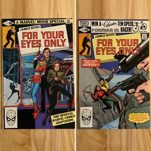 James-Bond-For-Your-Eyes-Only-1-amp-2-Marvel-Comics-Comic-Lot
