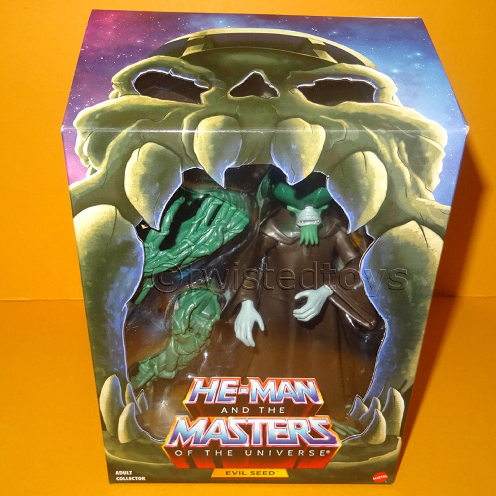 MATTEL HE-MAN MOTU MASTERS OF THE UNIVERSE CLUB grauSKULL FILMATION EVIL SEED