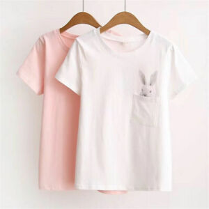 Fashion-Women-Ladies-Loose-Casual-Short-Sleeve-T-Shirt-Cotton-Blouse-Top-T-Shirt