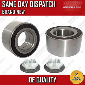 FRONT-WHEEL-BEARING-2X-WITH-ABS-KIT-NUT-FORD-MONDEO-Mk3-TDCi-TDDi-2000-2007