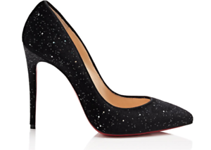 aaa1338af581 Image is loading NIB-Christian-Louboutin-Pigalle-Follies-100-Black-Velvet-