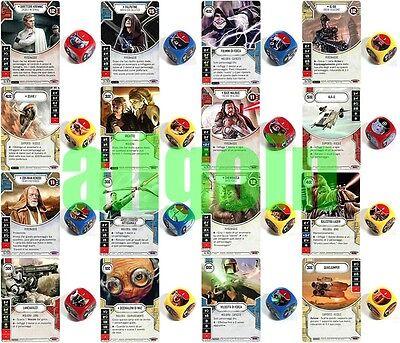 Carta+Dado Star Wars Destiny Spirito della Ribellione SoR Rare e Leggendarie