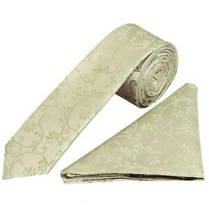 Aktiv Sage Green Floral Skinny Boys Tie And Pocket Square Set Kid Wedding Tie Children
