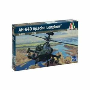 ITALERI-080-AH-64-D-Apache-Longbow-Helicopter-1-72-Aircraft-Model-Kit