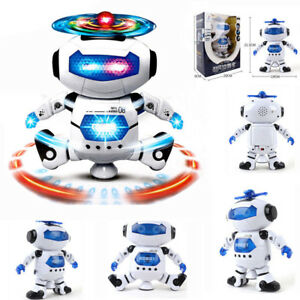 Details About Space Dancing Robot Toy With Music Light Electronics For Boy Kid Birthday Gifts