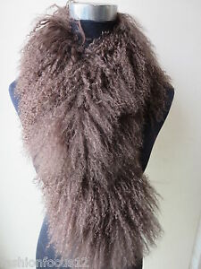 Free-Shipping-Real-Whole-Lamb-Fur-Brown-Women-Scarf-with-Clip-Handmade