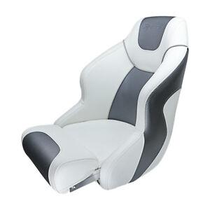 Premium Captain Seat Bucket Seat Sport Flip Up Seat White