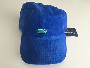 Image is loading VINEYARD-VINES-BLUE-CORDUROY-BASEBALL-HAT-ADJUSTABLE-MEN- 1261b009325b