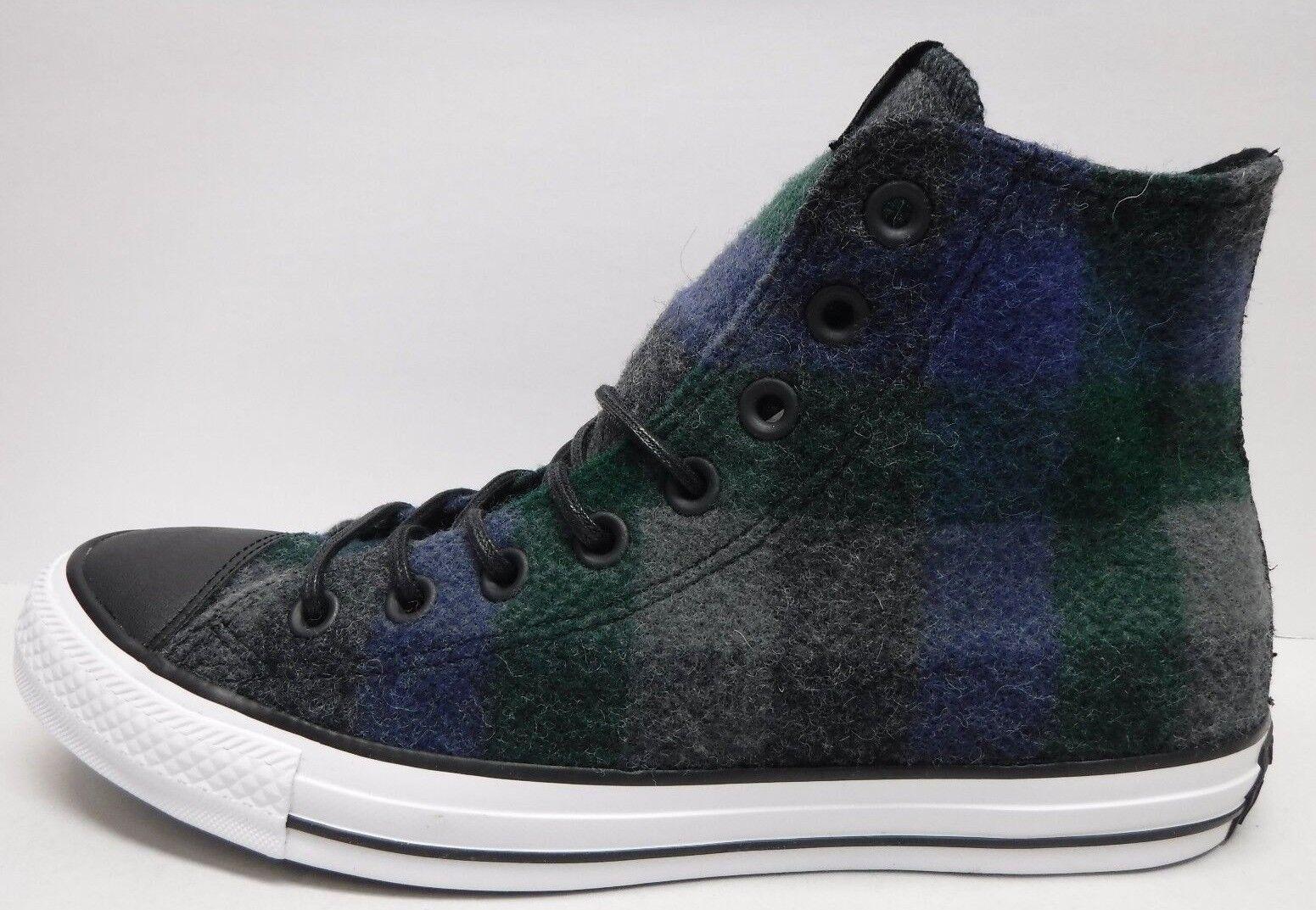 Converse woolrich größe 10 hi tops wolle Blau graue turnschuhe neue herren - schuhe