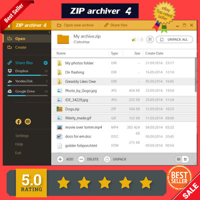 ZIP Archiver File Archiver for Compressing & Opening ZIP, RAR, TAR, and 7Z  Files | eBay