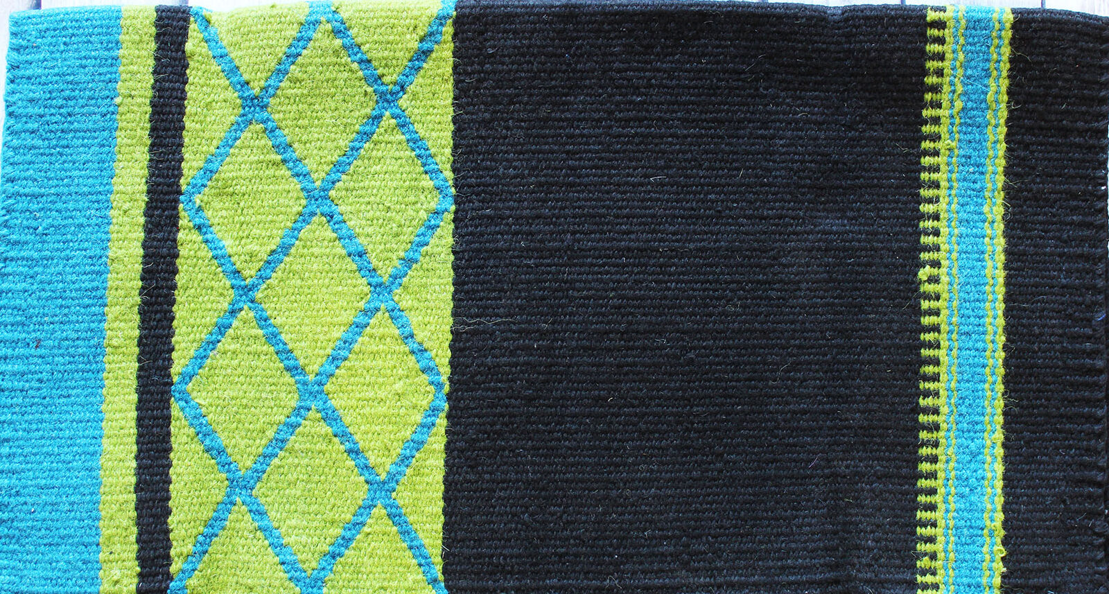 34x36 Horse Wool Western Show  Trail SADDLE BLANKET Rodeo Pad Rug Green 3620  best price