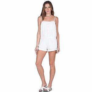 c45f3ede561 2016 NWOT WOMENS VOLCOM CACTUS FLOWER ROMPER  55 S white removable ...